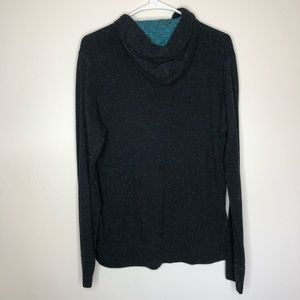 American Eagle Outfitters Shirts - Men's American Eagle Black Speckle Hoodie Shirt